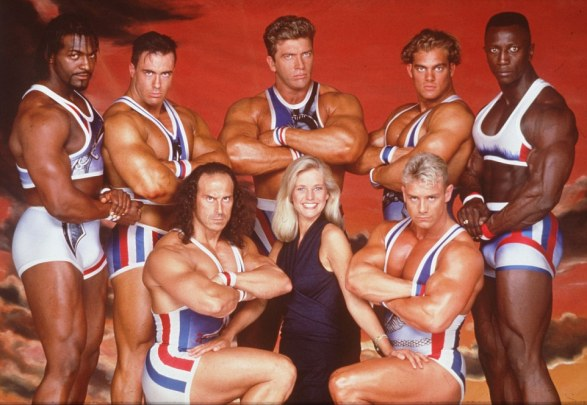 WARNING: PICTURE SCANNED FOR OVERNIGHT FEATURES Gladiators with Ulrike Jonson (Sep 93).