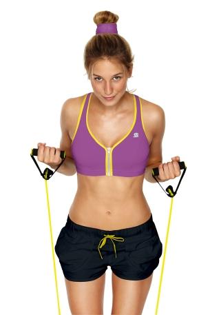 S00BW Zipped bra - Purple yellow packshot
